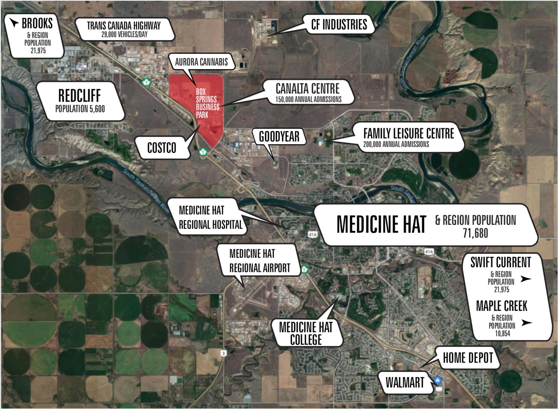 Medicine Hat and Region Map
